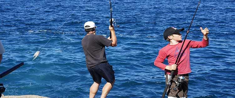 Rock fishing in Taiharuru