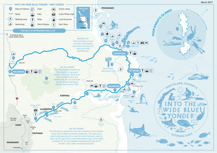 Map of Into the wide blue yonder Tutukaka