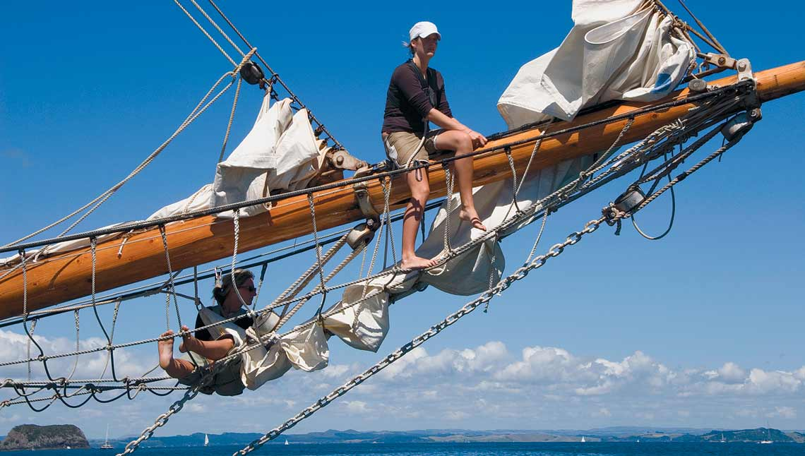 Tall Ship - Riding the Bow Sprit