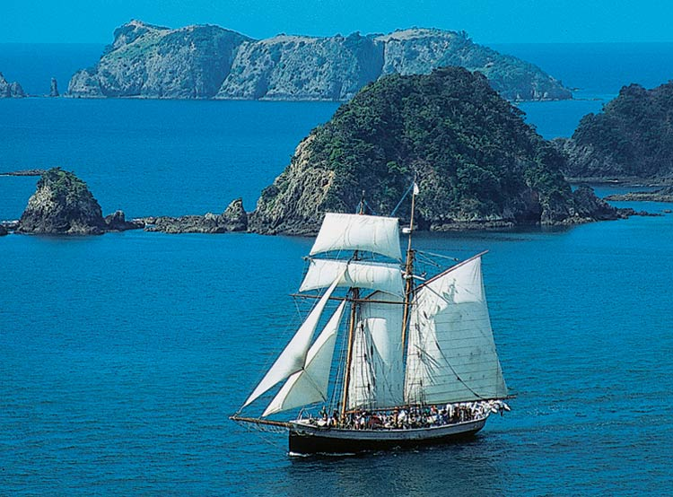 Tall Sailing Ship in the Bay of Islands
