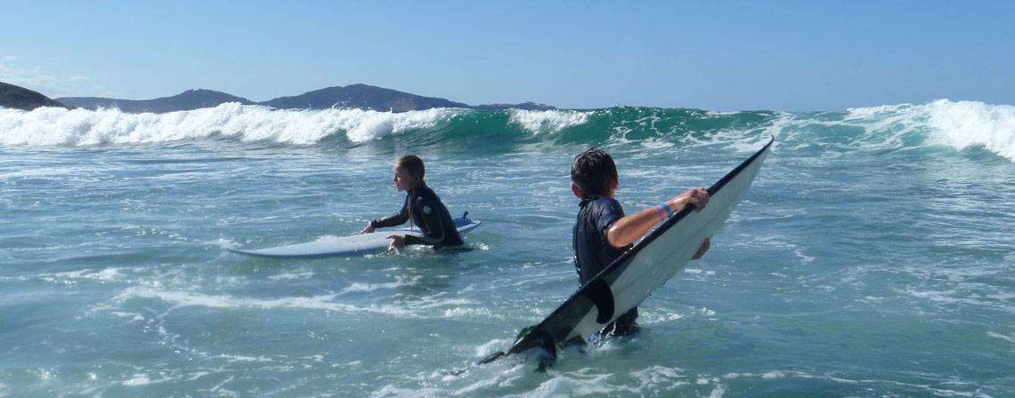 Fun in Ocean Beach Surf at Whangarei Heads
