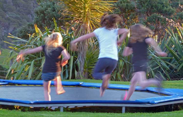 Trampoline Fun at Te Whara