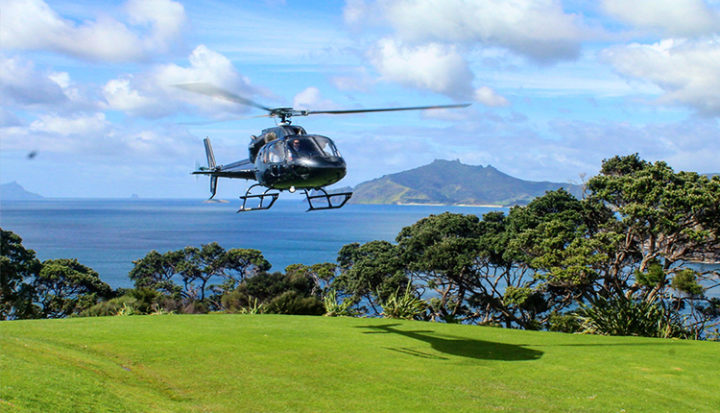 Heletranz arrival at Kauri Mountain Point