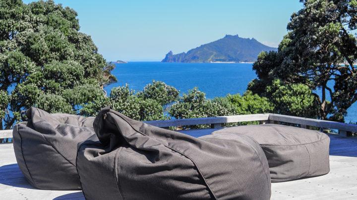 Coast Beanbags on deck Whangarei Heads