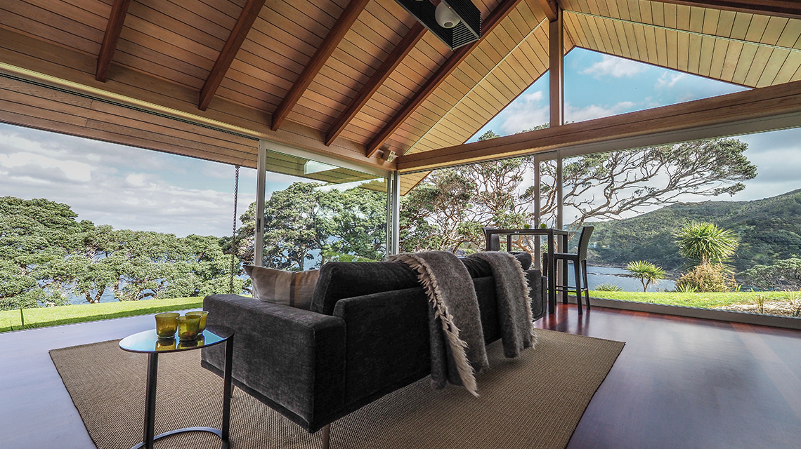 Architecturally designed living room Whangarei Heads
