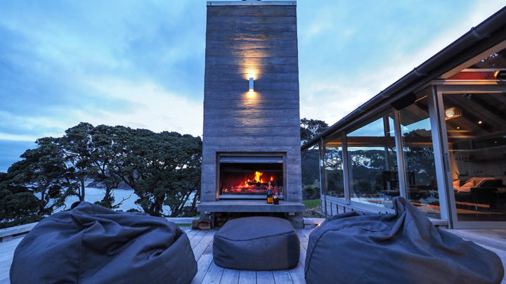 Outdoor Fireplace Northland accommodation