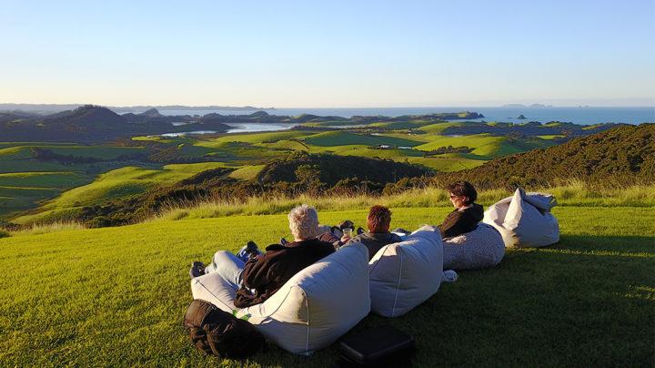 sunset at Te huia accommodation Northland