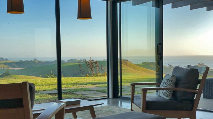 Two chairs at Te Kahu holiday home in Whangarei Heads