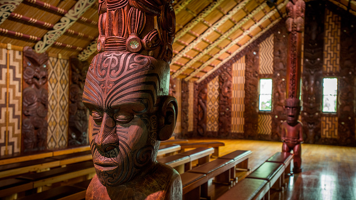 Maori carving at the Waitangi Treaty Grounds