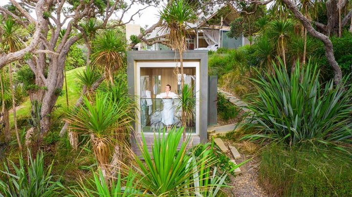 Shower at the Glasshouse in Northland
